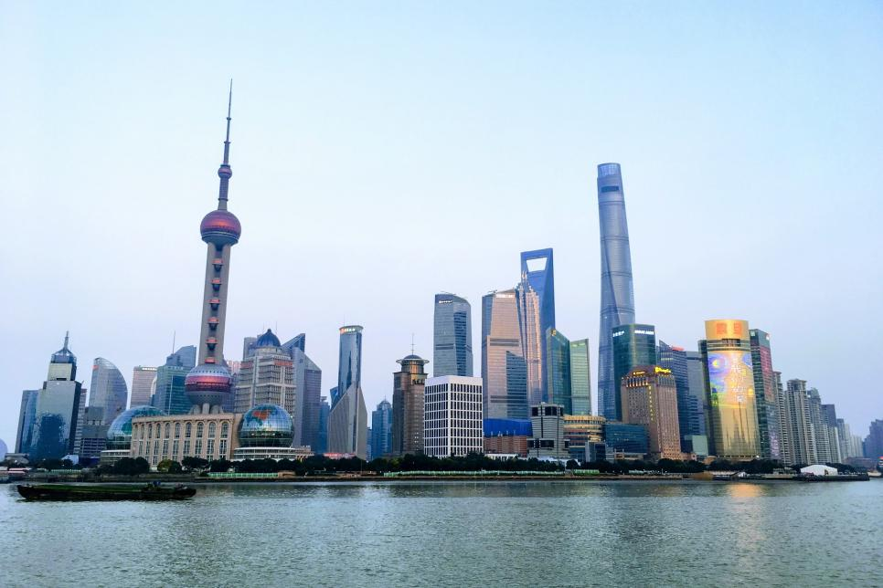 Image of the Bund skyline in Shanghai